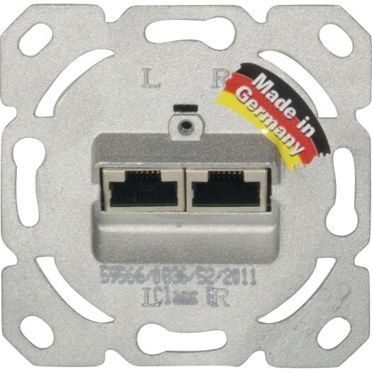 Universal RJ 45 UP-Datendose Cat.6, 2-fach