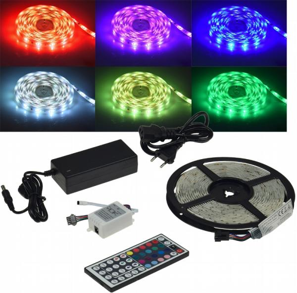 LED-Stripe 150 LEDs, 5m, RGB KOMPLETTSET