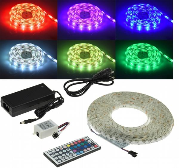 LED-Stripe 300 LEDs, 10m, RGB KOMPLETTSET